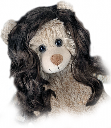 "Long Wavy Brown Wig - 16"" bears"